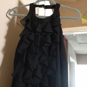 Black, sleeveless, little black dress